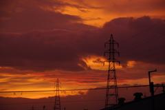 台風前の夕焼け1