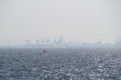 甲子園浜のwindsurfing2