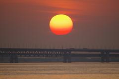 関空に沈む太陽2