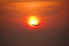 二色の浜夕日2