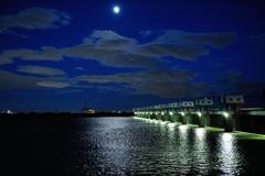 木曽川(夜)