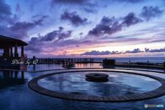 台湾 朝日温泉で朝日をみる