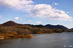 冬の千丈寺湖1