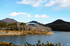 冬の千丈寺湖2