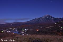 月夜の白樺湖