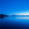 Mt.Bandai at blue hour