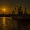 黄昏の出港