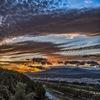 夕焼けと秋の雲