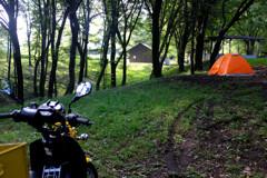 独り女子キャンプ場の朝
