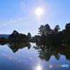 兼六園 朝の霞ケ池