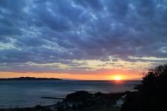 館山 崖観音からの夕日