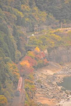 紅葉の保津峡