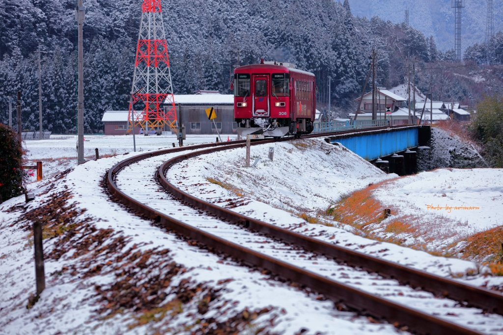 長良川鉄道 冬景色