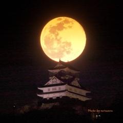 岐阜城と満月②