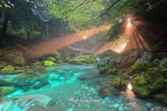 円原川の光芒 神の光Ⅱ