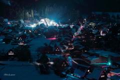 白川郷冬夜景