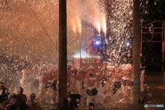手力の火祭●真田丸(点火後)