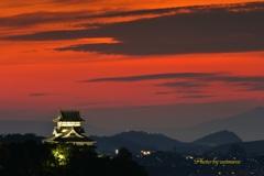 犬山城 秋の夕暮れ