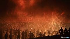 手力の火祭り●夏