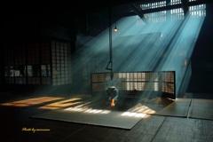 囲炉裏の光