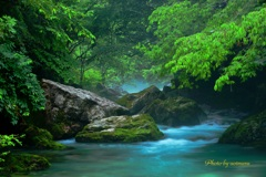 円原川の流れ