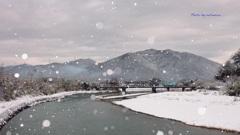 樽見鉄道 冬景色