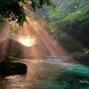 円原川の光芒 神の光