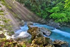 円原川の光芒