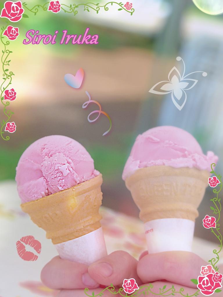 薔薇のアイス