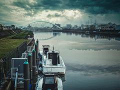 雨上がりの新中川にて