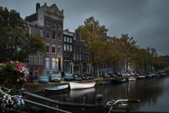 運河の街 夜が明けて4
