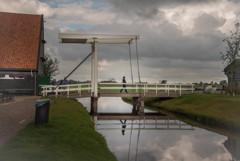 公園の風景 跳ね橋