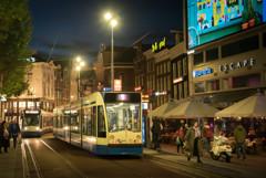 アムステルダム 夜の街角