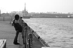 港のカメラ女子