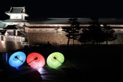 金沢城を彩る和傘