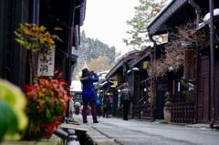 冬の高山 古い町並み