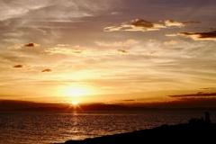 マーブルビーチ の夕陽