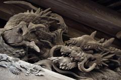 叶神社の彫刻