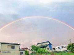 おっきな虹が♪  しあわせの架け橋