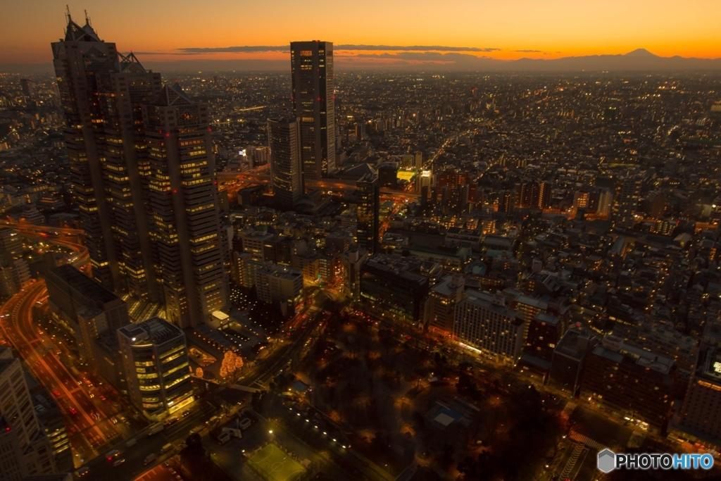 都庁からの富士