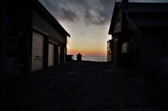 漁師町の夕暮れ