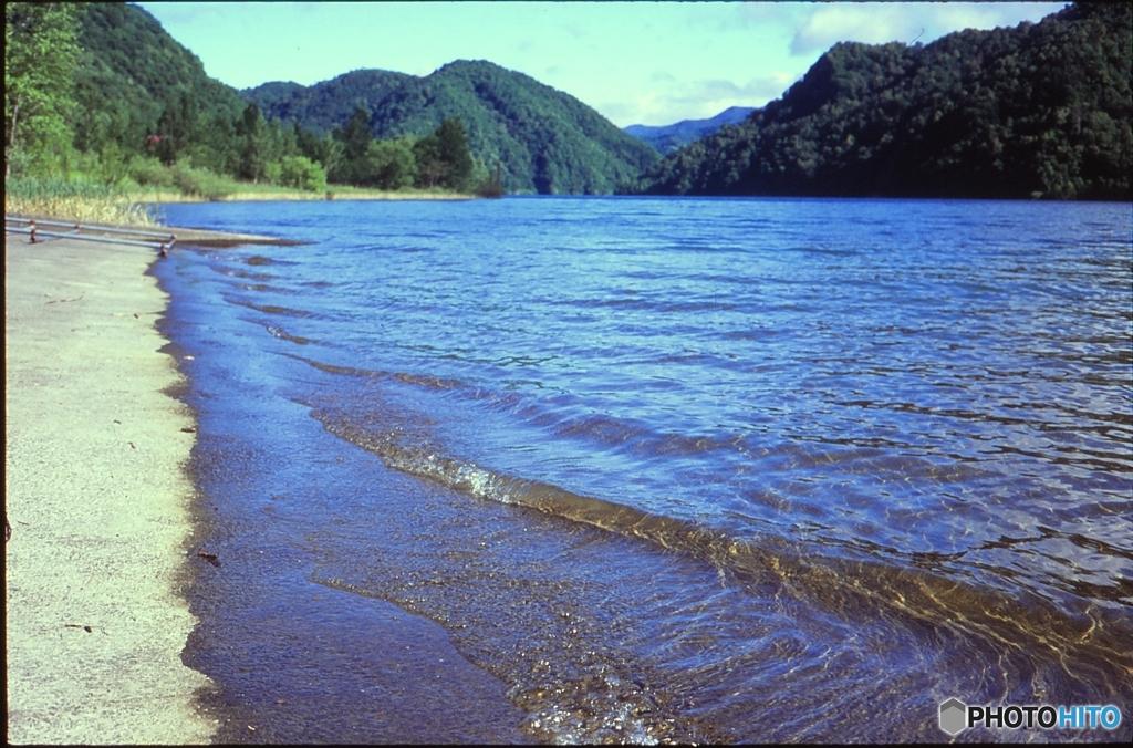 ダム湖のさざ波・・・