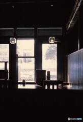 窓際の席・・・