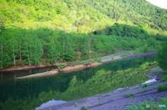 7時前のダム湖3