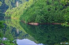 7時前のダム湖4