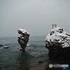 雪の恵比寿岩