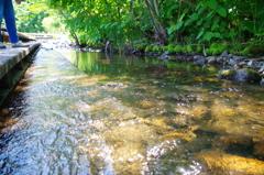 夏の河原で・・・