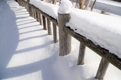 展望所も雪でいっぱい・・・
