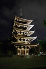 興福寺五重塔(ライトアップ)