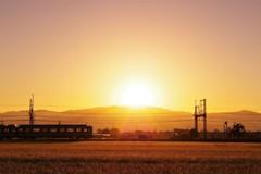 朝焼け電車